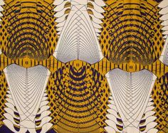 Interesting African Fabric Print Super Wax from Africanpremier on Etsy.