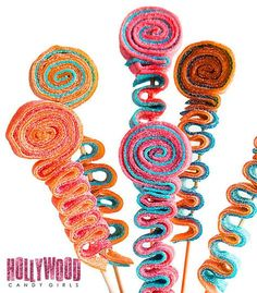 We are The Hollywood Candy Girls and our world and business consist of all things candy and wed like to welcome you into our crazy lil Candy World! These Custom Candy Stick Kabobs, Sweet Sticks, Candy Candy Girls, Skewer Sticks, Skewers, Kebabs, Candy Party Favors, Party Treats, Hollywood Candy, Wedding Reception Party Favors, Lollipop Candy