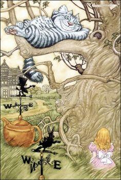 Alice in Wonderland - Chesire Cat in Tree - Poster