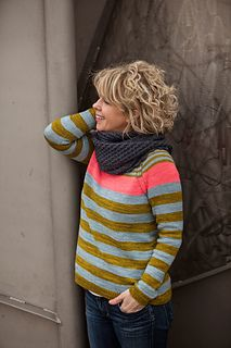 Everybody loves a parade! This sweater, shown in Plucky Feet, is all about three different colored stripes, marching in formation around this simple top-down, raglan sleeve pullover. Snood Knitting Pattern, Knitting Machine Patterns, Knitting Yarn, Knitting Designs, Knitting Projects, Work Tops, Hand Dyed Yarn, Sweaters For Women, Knit Sweaters