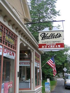 Hallet's, Yarmouthport, MA - Grew up down the street from Hallet's so it's an old haunt for me. Evidently this is the first soda fountain in the U.S. Their chocolate ice cream sodas still rock!