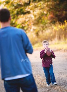 Father & Son football Photograph...love - maybe with Todd and the two boys
