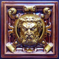Wedgwood Majolica Mask Tile 1905