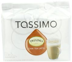 Since Twinings has provided tea lovers about the globe unparalleled pleasure and fulfillment. Now, with TASSIMO, the best cup of Twinings tea is only seconds away. A sweet and spicy mix of black tea, honey, creamer and spices. sixteen T DISCS per package. Twinings Tea, Types Of Tea, Sweet And Spicy, Tea Latte, Chai, Gourmet Recipes, Candle Jars, Glass Of Milk, Coffee Maker