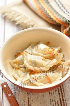 Рецепт: Вареники с картофелем (постные)