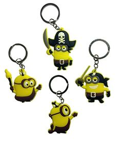 Despicable Me Keychains 4 Pcs Set 4 *** To view further for this item, visit the image link.