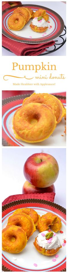 Is it possible to make a healthy AND delicious donut?  You betcha! Just try my yummy Pumpkin Mini Healthy Baked Donut Recipe with Apple Sauce & you'll see! It's the perfect pumpkin recipe for donut lovers!