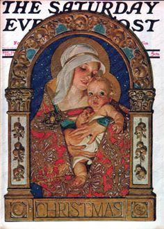 """""""Madonna and Child,"""" Dec. 24, 1927, by J. C. Leyendecker"""