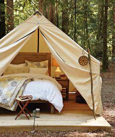 'Glamping' Glamorous camping