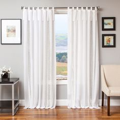 Shop for Tie Tab Cotton and Linen Macrame Curtain Panel . Get free delivery at Overstock.com - Your Online Home Decor Outlet Store! Get 5% in rewards with Club O!