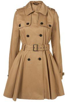 Topshop Light Stone Double Storm Flap Trench Coat #fashion #style #trenchcoats #coats