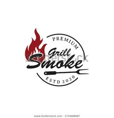 Rustic Vintage Bbq Grill Barbecue Barbeque témájú stockvektorkép (jogdíjmentes) 1715686687 Barbecue Grill, Grilling, Grill Logo, Vintage, Crickets, Grill Party