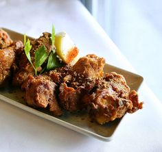 Fried chicken cravings satisfied @bhojdocklands // Gunpowder Chicken with fiery South Indian five spice gunpowder batter