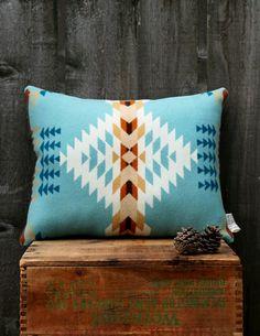 Blue Tribal Pendleton Pillow- bedroom color scheme