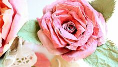faux Mulberry watercolor paper rose tutorial at Craftberry Bush - gorgeous How To Make Paper Flowers, Paper Flowers Diy, Handmade Flowers, Flower Crafts, Fabric Flowers, Flower Diy, Felt Flowers, Pretty Flowers, Rose Tutorial