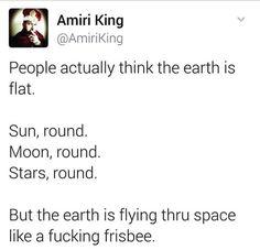 Frisbee planet. Makes total sense.