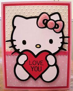 HK |❣| HELLO KITTY Cri-Cut Card Craft