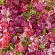 Swarovski Crystal, 4mm Bicone, Vava Bloom Mix