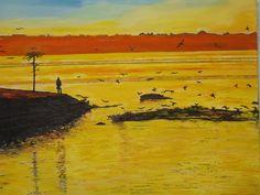 ~ Yellow Sea, acrylic on canvas, 16x20 ~