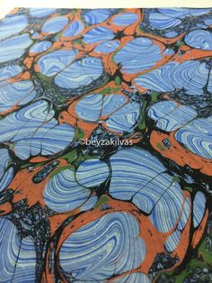 marbling art marbling paper over marbling turkish traditinal art beyza kilvas ebru workshop brooklyn decorative paper end paper book binding hand printed