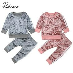 Khloe Set for babies. Sweet and swag matching track suit. Classic sweatshirt style top and elastic waisted bottoms. Lenny Lemons Factory fashion for babies - March 23 2019 at Baby Outfits, Kids Outfits Girls, Toddler Outfits, Toddler Shoes, Sporty Outfits, Stylish Outfits, Spring Outfits, Girls Fashion Clothes, Baby Girl Fashion