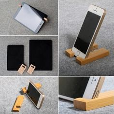 wooden iphone holder - Google Search