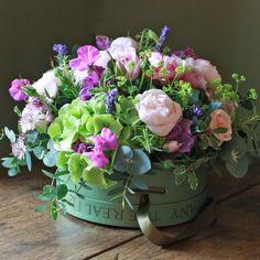 Chelsea Luxury Pink & Hydrangea Hat Box Arrangement