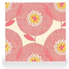 Skinny laMinx - Robin Sprong Surface Designer. Flower Fields Rosy.