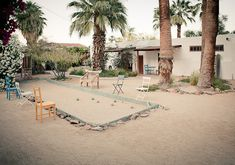 Korakia Pensione - Palm Springs, CA (maybe we need bocce ball in our back yard....