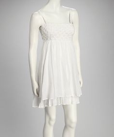 Take a look at this White Empire-Waist Dress by Pura Vida on #zulily today!