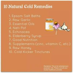 10 natural remedies for colds