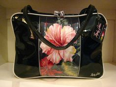 Trophy Queen Roadster Business Bag with Vintage 1950s Hawaiian Bark Cloth Fabric- custom... amazing!!