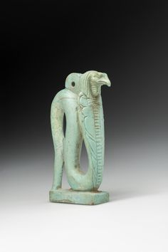 Amulet with vulture-headed snake Egypt, 664–525 BC Faience