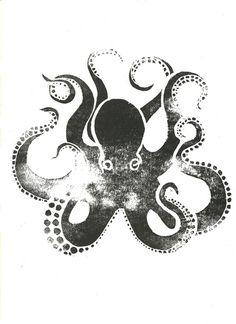 A black and white octopus shower curtain is a great way to give your bathroom a fun theme. The giant octopus is considered the Kraken or the sea monster. Octopus Design, Octopus Art, Octopus Drawing, Octopus Squid, 1 Tattoo, Tatoo Art, Octopus Tattoos, Art Design, Illustrations