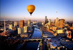 Hot Air Balloon Ride Over Melbourne, Australia #goaustralia