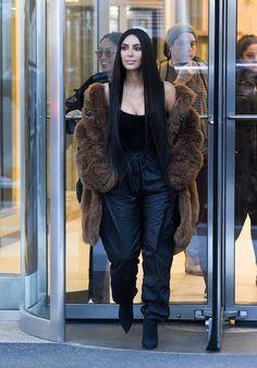 Kim Kardashian leaving Nobu in New York 16 February 2017