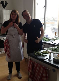Our fab foodie team testing recipes on one of the Asda Magazine June 2014 shoots (Nice Moustache Gregor!)