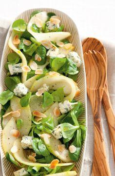 Recept voor salade met meloen, blauwe kaas en honingdressing