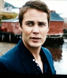 Taylor Kitsch in The Grand Seduction. Such a cute movie