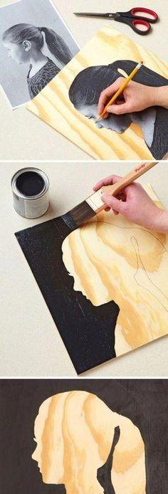 abstract art diy step by step . abstract art diy tutorials step by step Fun Crafts, Diy And Crafts, Crafts For Kids, Arts And Crafts, Kids Diy, Art Projects For Adults, Easy Art Projects, Stick Crafts, Mur Diy