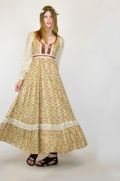 Gunne Sax floral print--I would have loved to have this dress.