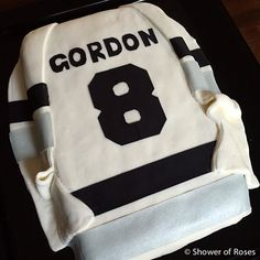 Shower of Roses: A Hockey Jersey Birthday Cake