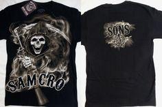 Sons of Anarchy SOA Smokey Screaming Reaper Samcro Tv Show Black T-Shirt Nwt #SonsOfAnarchy #GraphicTee