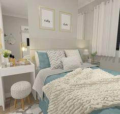 27 Small Bedroom Ideas Design Minimalist and Simple - Pandriva Diy Home Decor Bedroom, Small Room Bedroom, Trendy Bedroom, Bedroom Romantic, Bedroom Simple, Bedroom Ideas, Master Bedroom, Bedroom Layouts, Dream Rooms