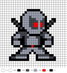 X-Force Deadpool perler bead pattern: Bead Patterns, Beads Patterns, Beads Patterns