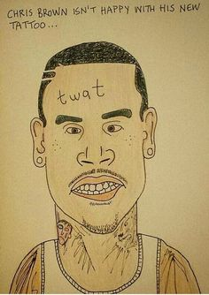 Chris Brown doodle (Dunstan Carter, 2015)