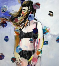 "Saatchi Art Artist Hanna Ilczyszyn; Painting, ""Bubbles (exhibition Yes Art Gallery)"" #art"
