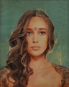 """LEXA KOM TRI KRU PORTRAIT """"I loved her too early, she loved me too late"""". After a week i finally finished this. My intention was to recreate Lexa portrait using pieces of her and trying to emphasise her true self. She is the commander so i put the..."""