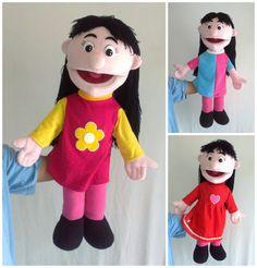 Homemade and handmade puppets & soft dolls by Tsabita Boneka Girl Puppets, Hand Puppets, The Muppets, People Puppets, Puppet Toys, Puppet Making, Bible For Kids, Child Day, Kids Church
