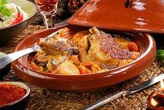 Recipe, Veal tajine with lemon and saffron.    Preparation of the recipe:    In a cast iron pan preferably line of  olive oil and sauté the onion and the meat.    Once the meat is colored, add the cumin, ground 5 bays, honey, lemons and cut into quarters.  Deglaze immediately after the broth and scrape the bottom of the pan. Attention must broth covers all the meat!    Once the preparation is hot, add the saffron and put the casserole